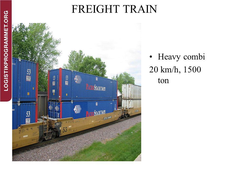 FREIGHT TRAIN Heavy combi 20 km/h, 1500 ton