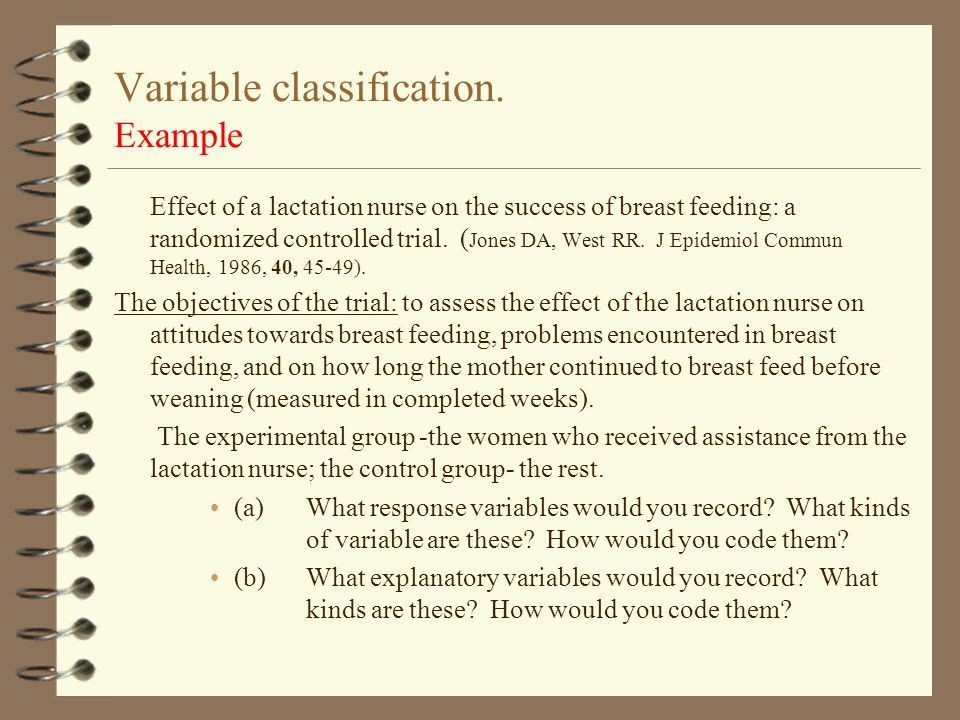 Variable classification