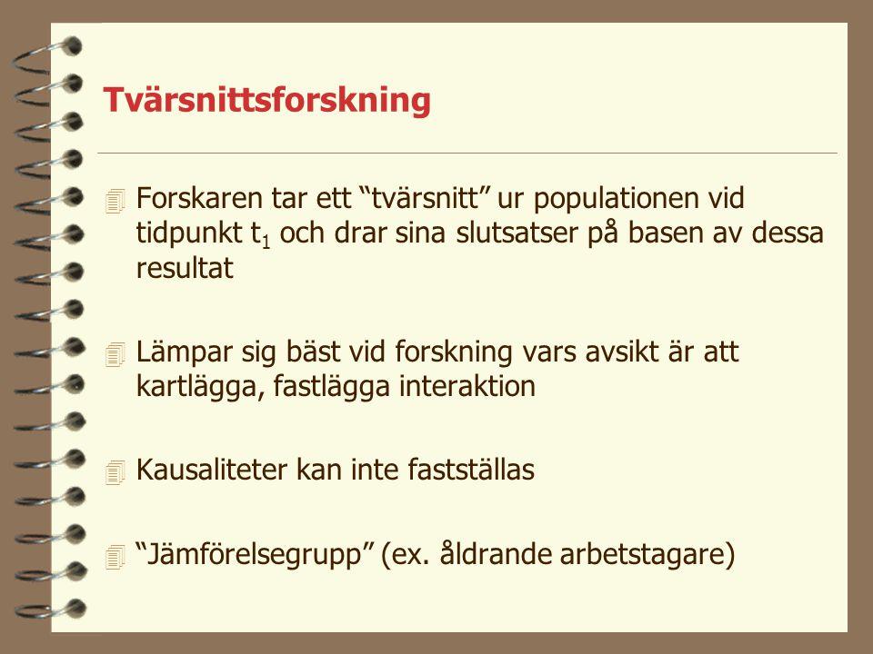 Operationalisering 4 Om man mäter t.ex blodtryck definieras t.ex.