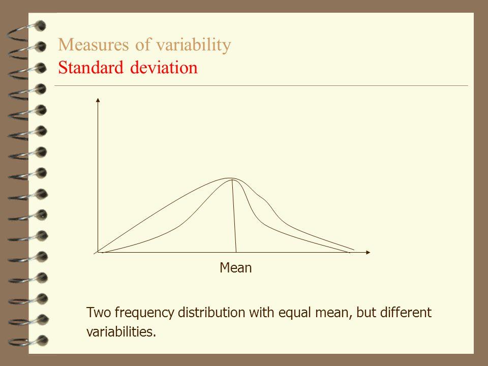 Standardavvikelse vid frekvenstabell Vid frekvenstabell f  parentesen