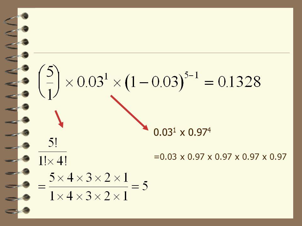 Binomfördelningens formel där för x=0, 1, 2 etc. n! beräknas n  (n-1)  (n-2)…1 Definition av 0! = 1