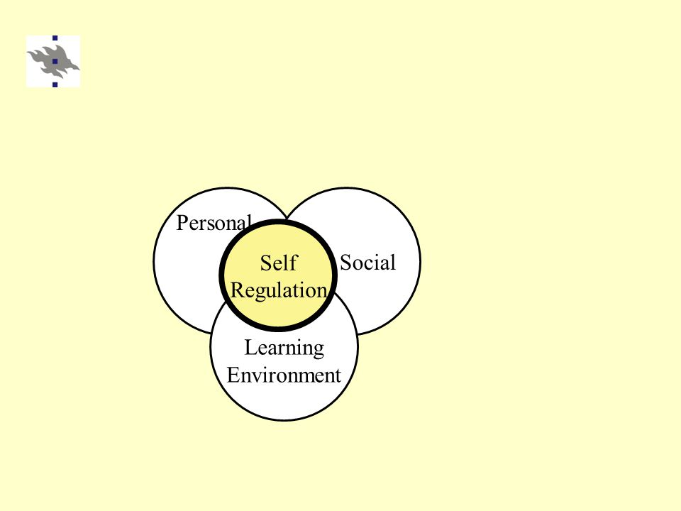 Learning Environment Social Self Regulation Personal