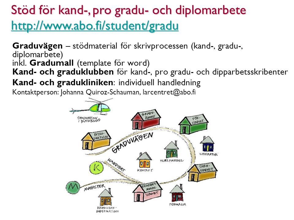 Graduvägen – stödmaterial för skrivprocessen (kand-, gradu-, diplomarbete) inkl.