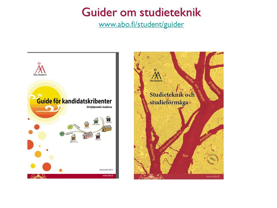 16 Guider om studieteknik www.abo.fi/student/guider