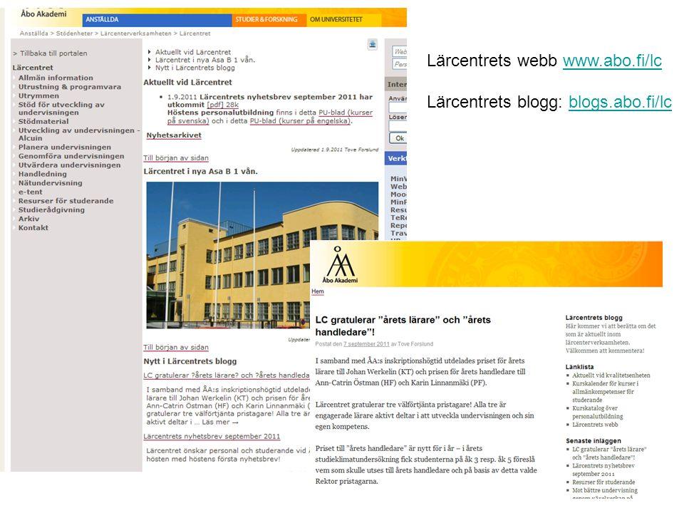 Lärcentrets webb www.abo.fi/lcwww.abo.fi/lc Lärcentrets blogg: blogs.abo.fi/lcblogs.abo.fi/lc
