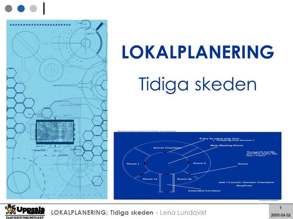 12 2008-05-21 12 2009-04-02 LOKALPLANERING; Tidiga skeden - Lena Lundqvist Vad kunden får: Varför ska vi lokalplanera?