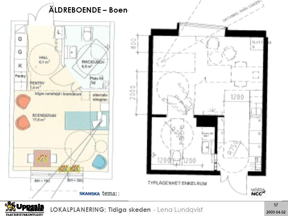 57 2008-05-21 57 2009-04-02 LOKALPLANERING; Tidiga skeden - Lena Lundqvist ÄLDREBOENDE – Boenderum, en person…