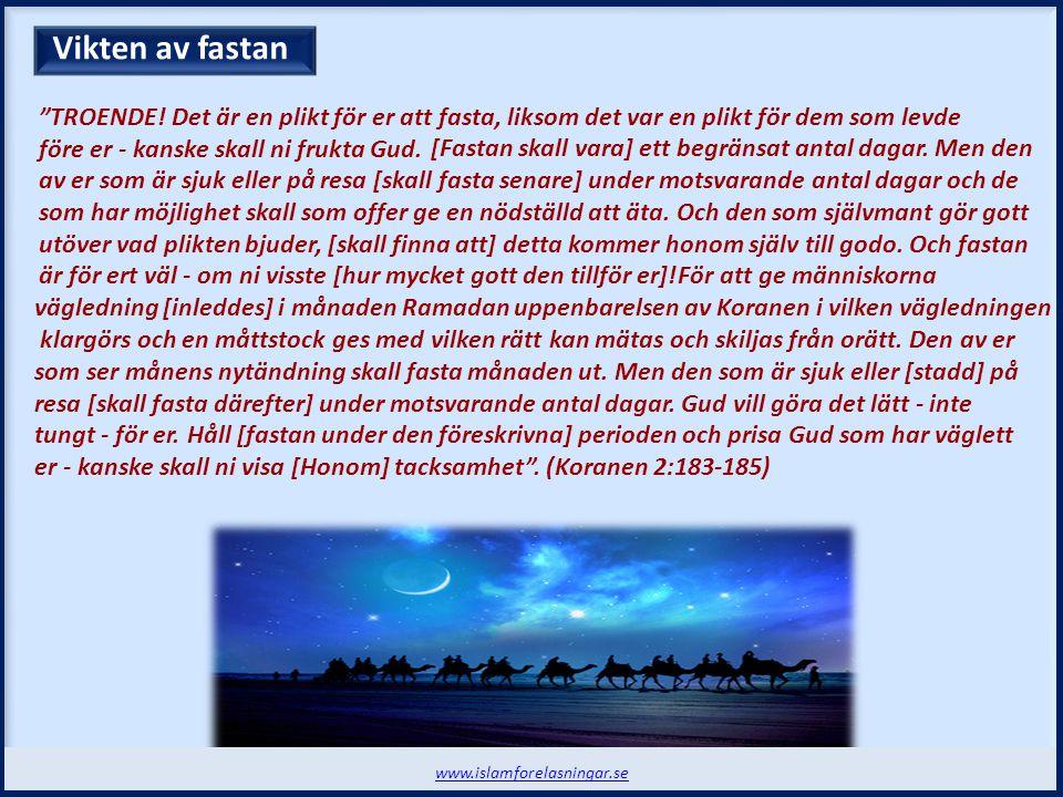 Nivån på Zakah www.islamforelasningar.se Allmosan (Zakat)  Ordet Zakat betyder bl.a.