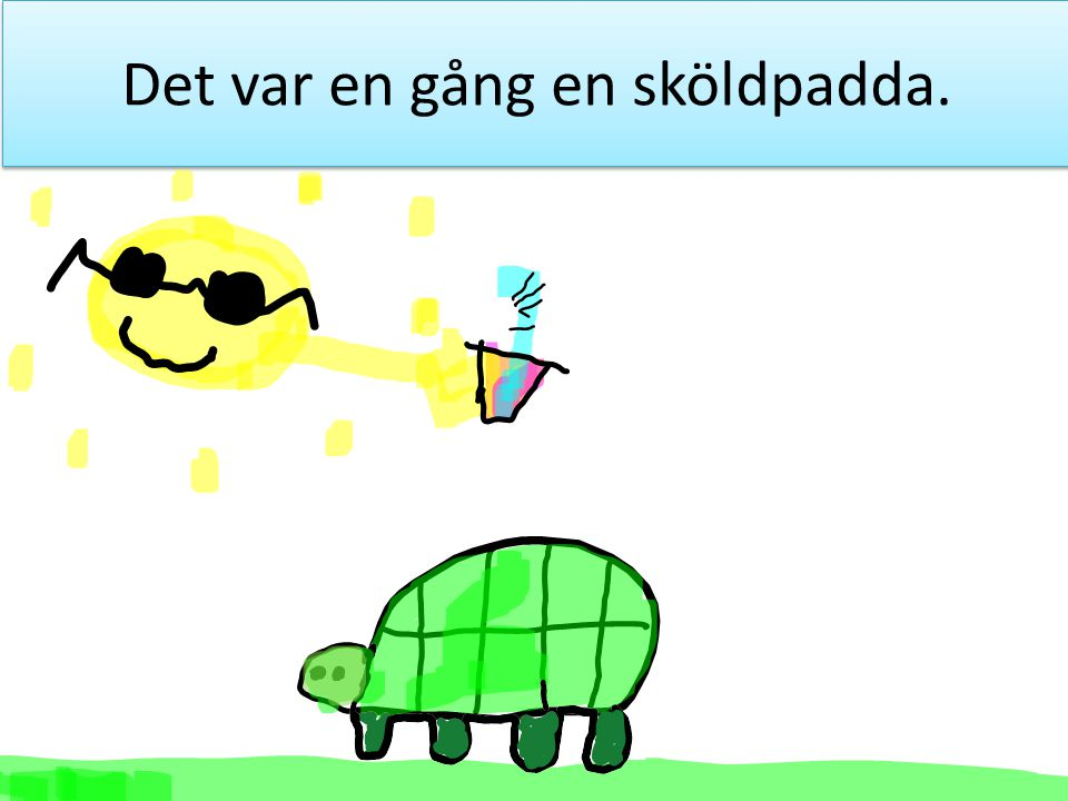 Det var en gång en sköldpadda.