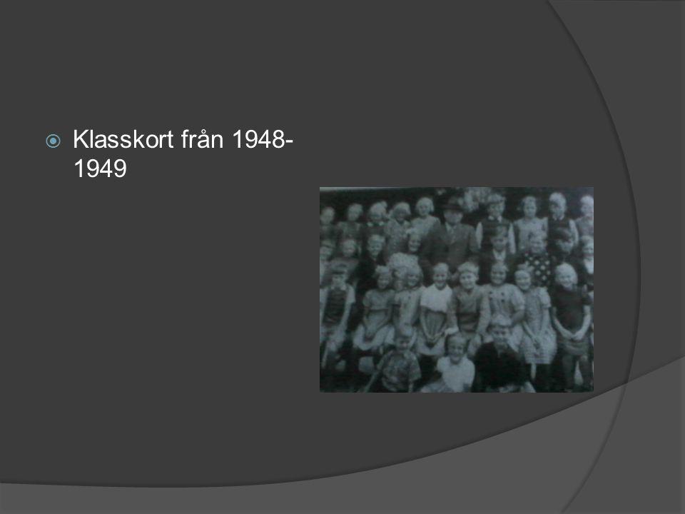  Klasskort från 1948- 1949