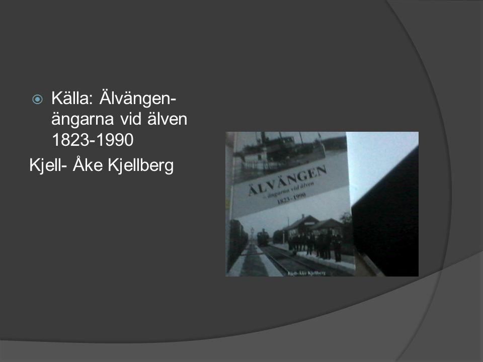  Källa: Älvängen- ängarna vid älven 1823-1990 Kjell- Åke Kjellberg