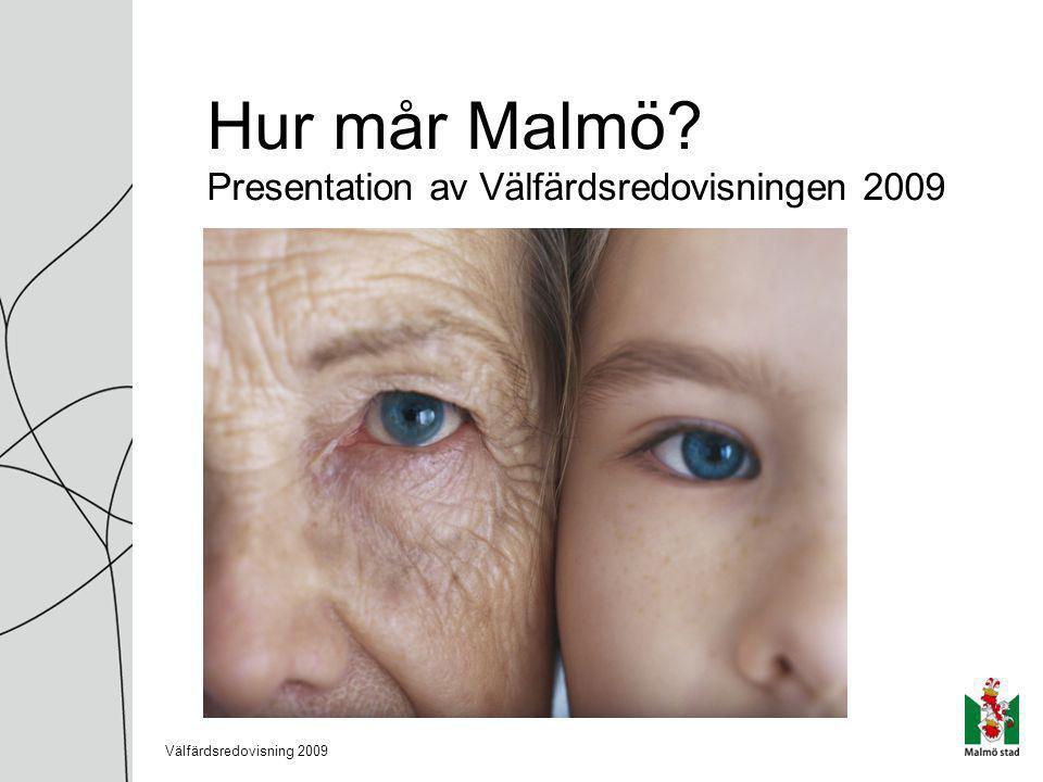 Hur mår Malmö Presentation av Välfärdsredovisningen 2009 Välfärdsredovisning 2009