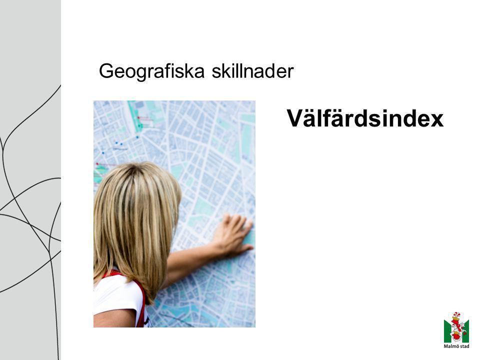 Geografiska skillnader Välfärdsindex