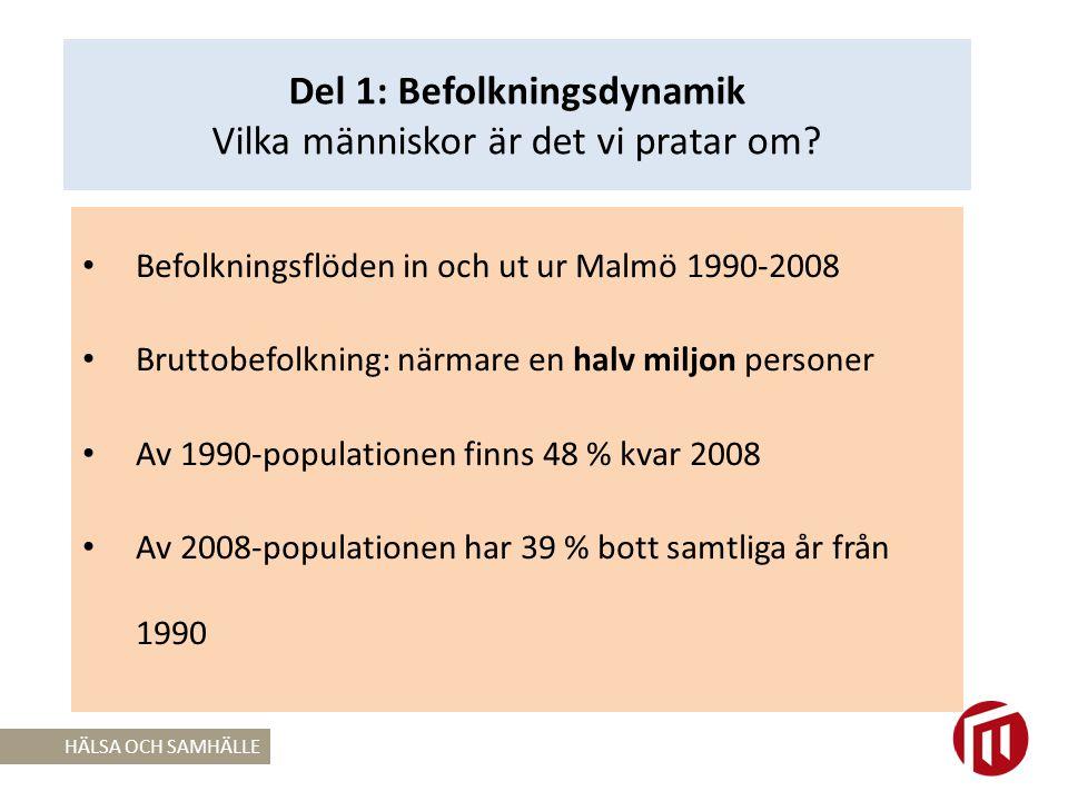 Perspektiv på sysselsättning och studier i arbetsför ålder i Malmö Ifall andelen som varken är i arbete eller studier 2008 varit oförändrad från 1990; 86, 1%.
