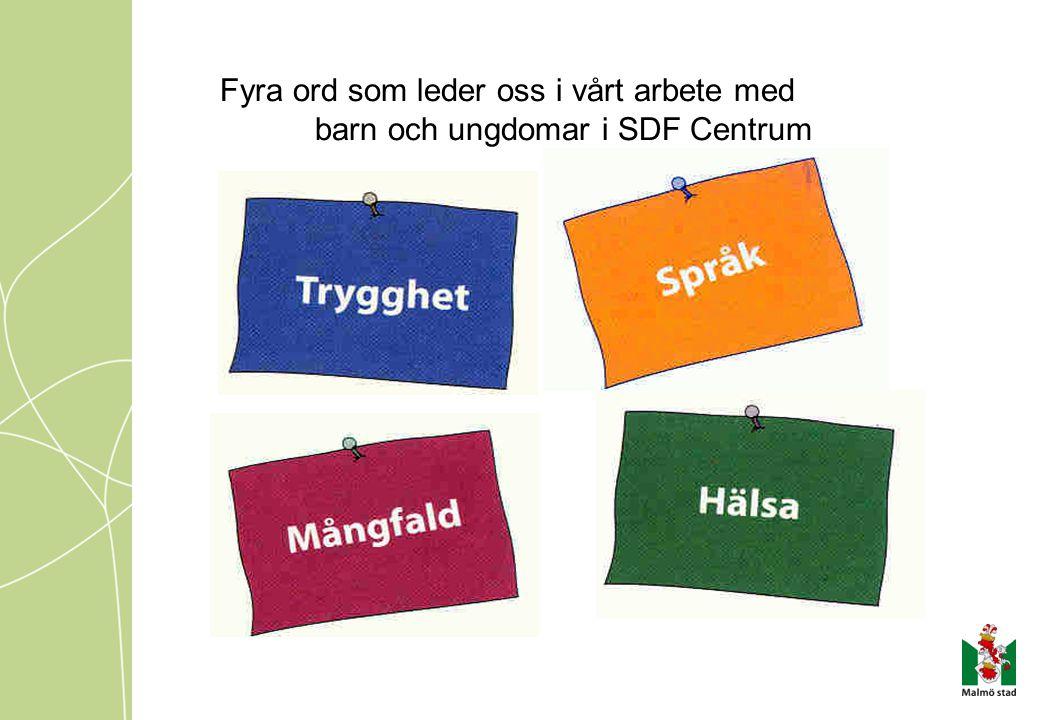 Fyra ord som leder oss i vårt arbete med barn och ungdomar i SDF Centrum