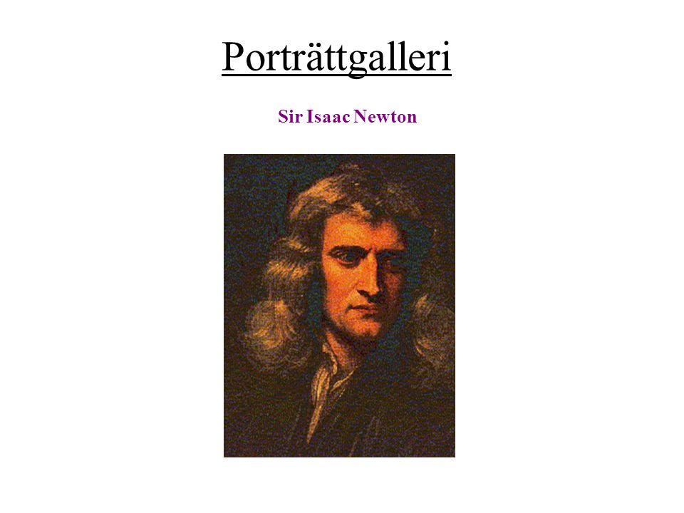 Porträttgalleri Sir Isaac Newton