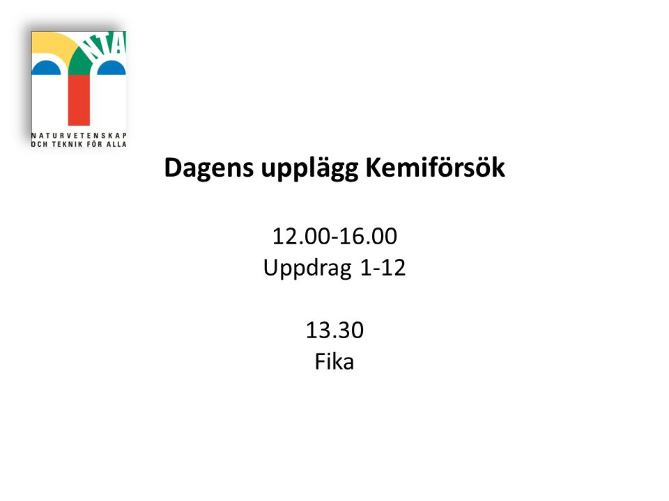Presentation Namn Skola/årskurs Tidigare erfaranheter NTA-teman