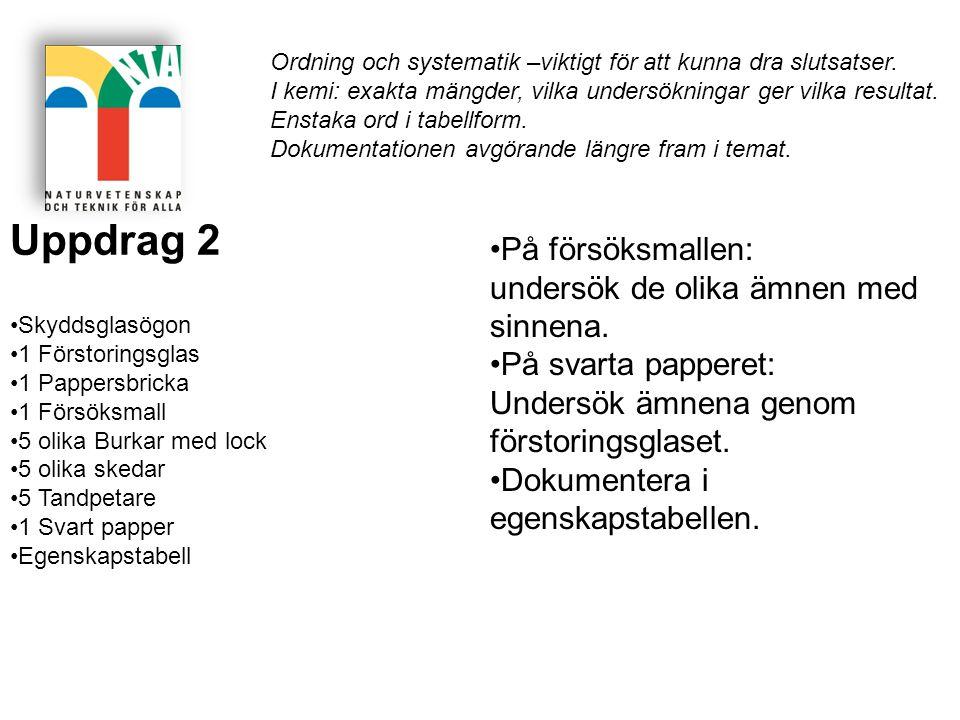Uppdrag 12 s 78, fel i lärarhandledningen A potatismjöl + bikarbonat B socker + alun C bikarbonat + talk