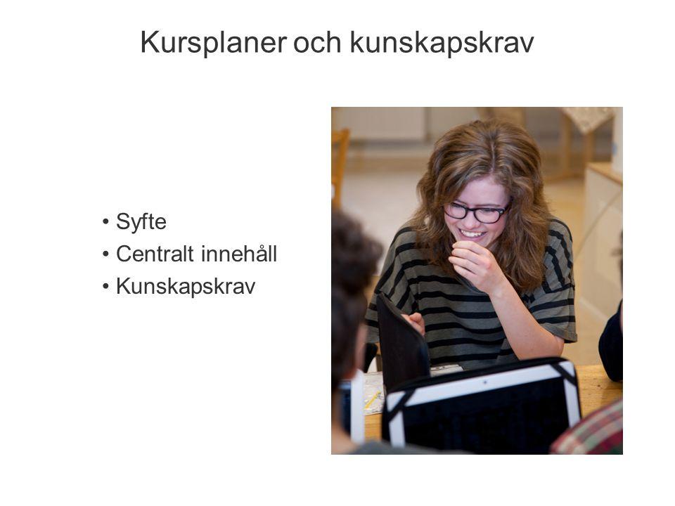 Årskurs 3 Svenska, svenska som andraspråk, matematik, NO och SO Årskurs 6 Alla ämnen utom moderna språk Årskurs 9 Alla ämnen