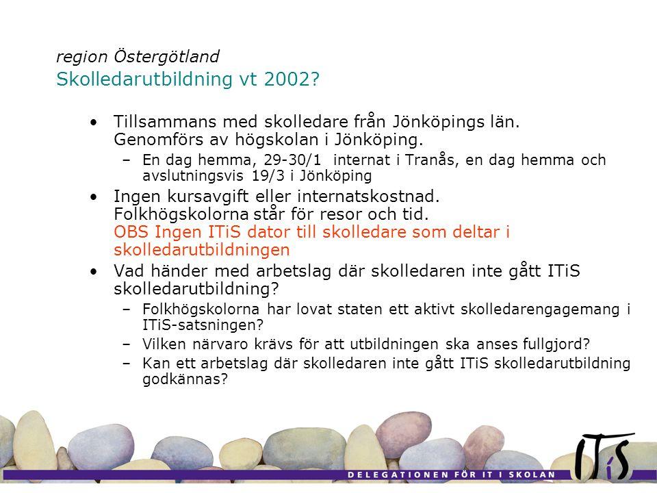 region Östergötland Skolledarutbildning vt 2002. Tillsammans med skolledare från Jönköpings län.
