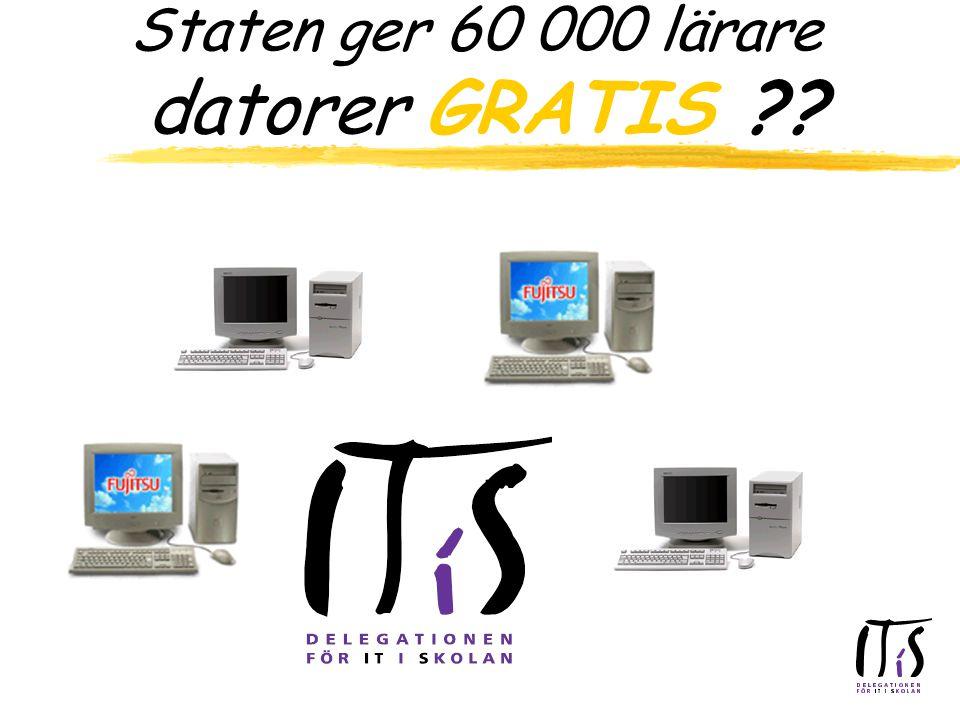Staten ger 60 000 lärare datorer GRATIS
