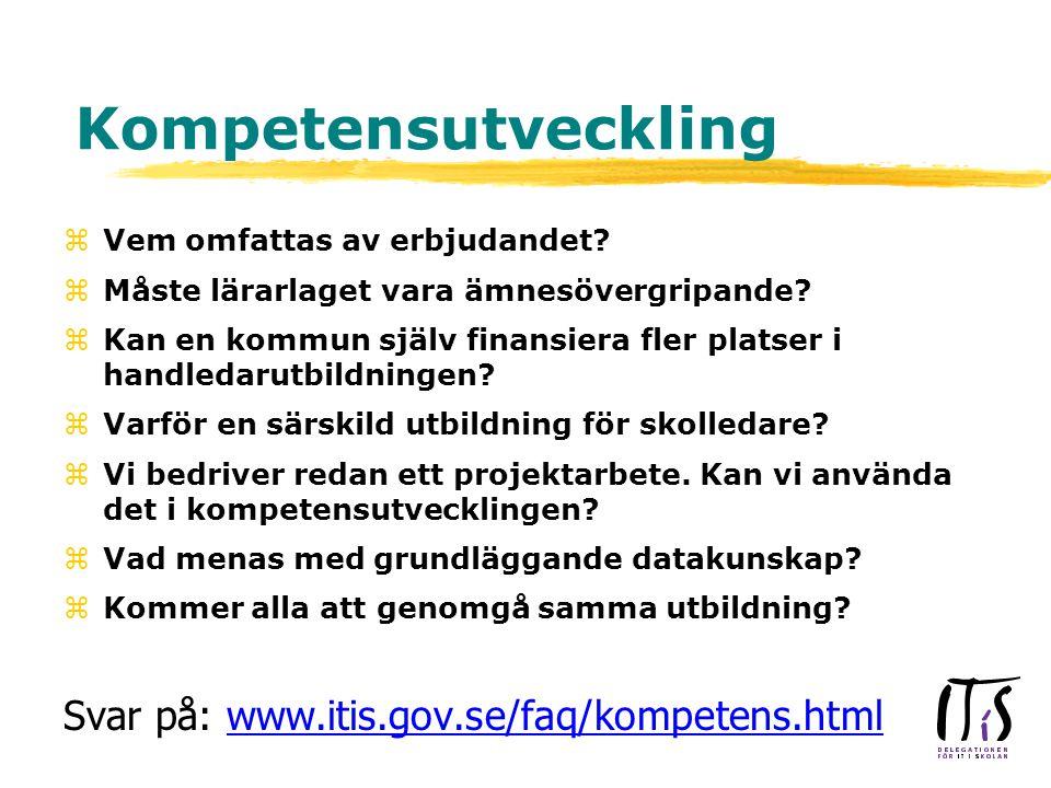 Kompetensutveckling zVem omfattas av erbjudandet. zMåste lärarlaget vara ämnesövergripande.