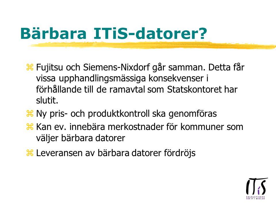 Bärbara ITiS-datorer. zFujitsu och Siemens-Nixdorf går samman.