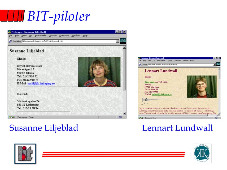 BIT-piloter Susanne LiljebladLennart Lundwall