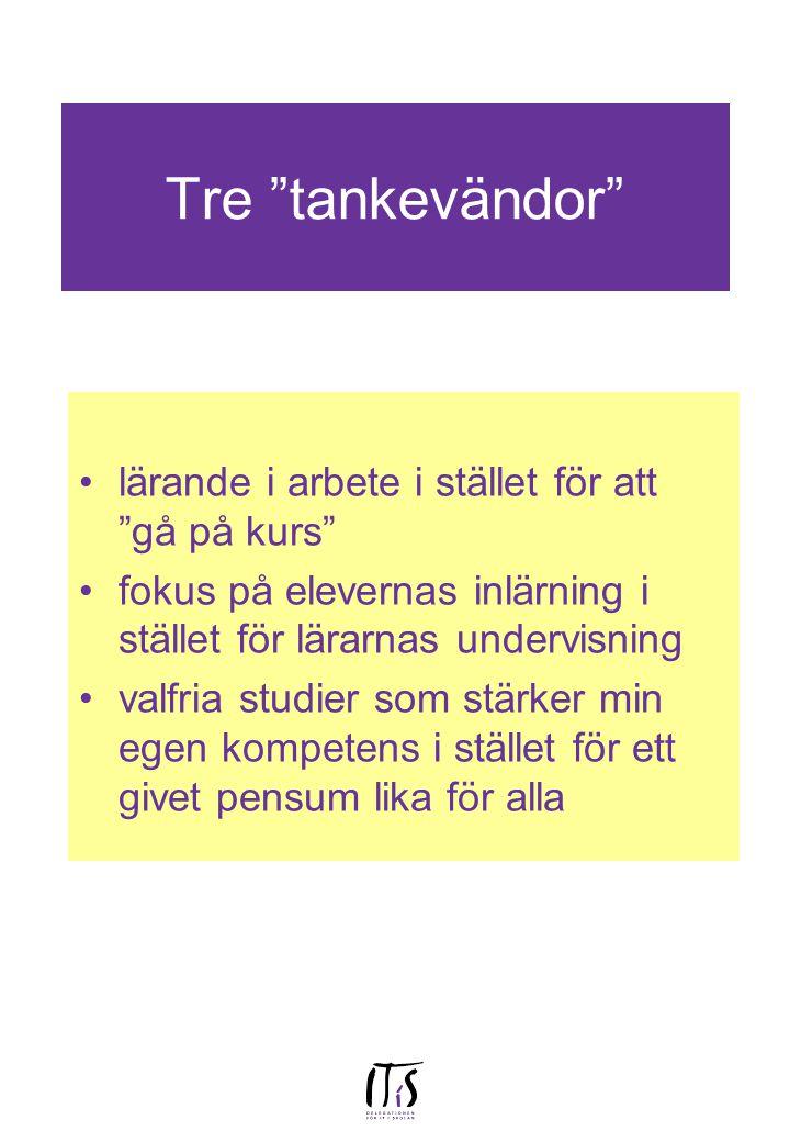 Kurstider: 20-21/1 2000 i Linköping på ITL 10/2 på Rimforsa kursgård (10-17) för handledare från Östergötland frivillig fortsättning till och med lunch på fredag den 11/2 tillsammans med gamla handledare från ht 1999 (17/2 i Linköping på ITL ??) 29/2 och 1/3 i Göteborg, KK och Skolverket enl sep inbjudan 3/3 i Linköping på ITL (10-17) ??