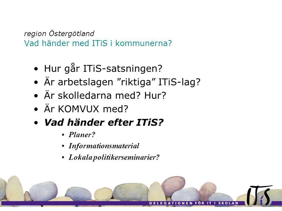 region Östergötland Vad händer med ITiS i kommunerna.