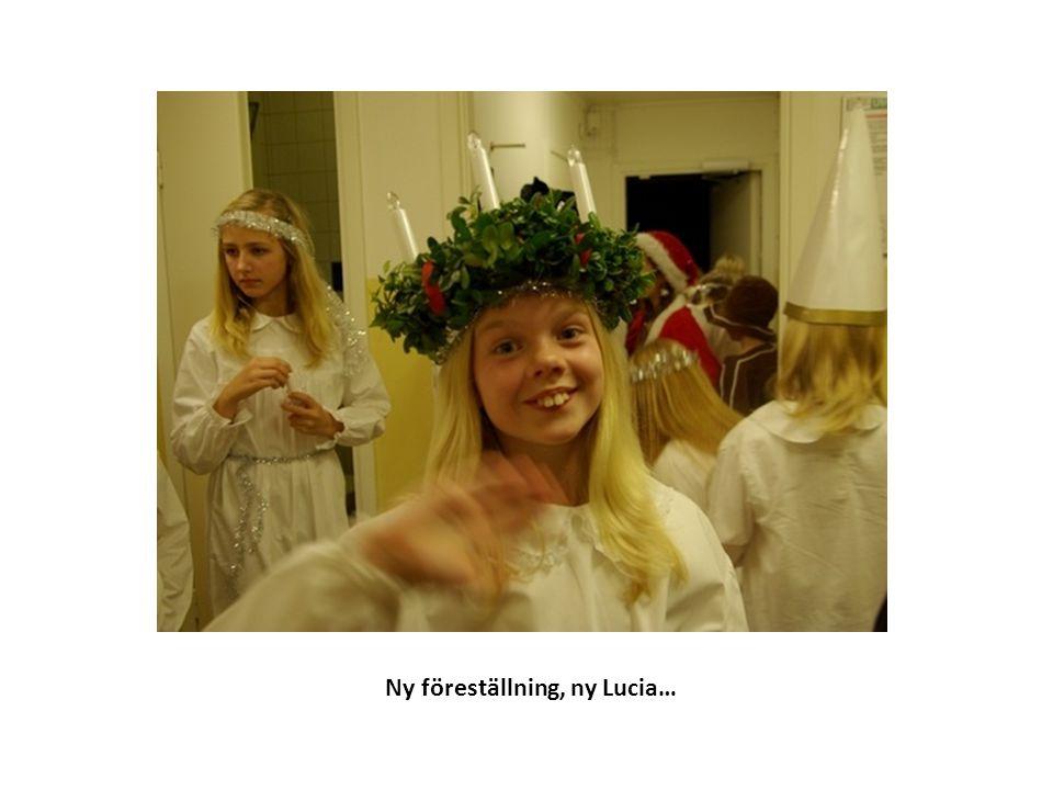 Ny föreställning, ny Lucia…