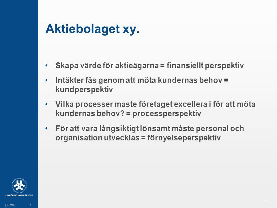 8 juni 20038 Aktiebolaget xy.