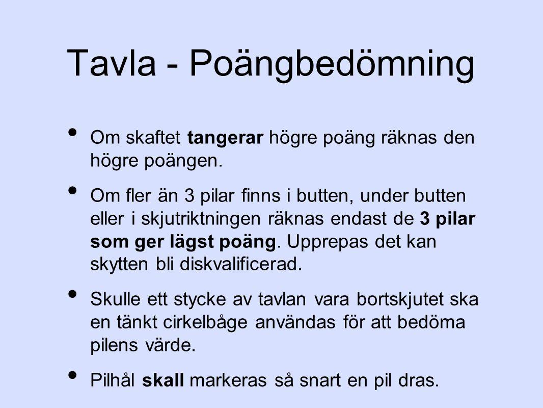 Tavla - Poängbedömning Om skaftet tangerar högre poäng räknas den högre poängen.