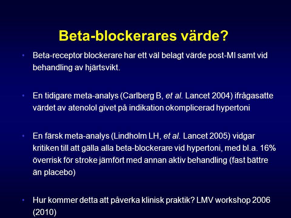 Beta-blockerares värde.