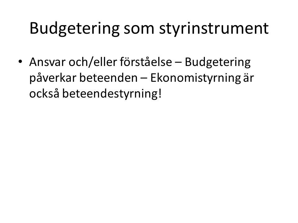 Aktivitetsbaserad budgetering Resursorienterad modell eller Efterfrågeorienterad modell Huvudlinjer i resursorienterad modell: sid 81 Och 83!!.