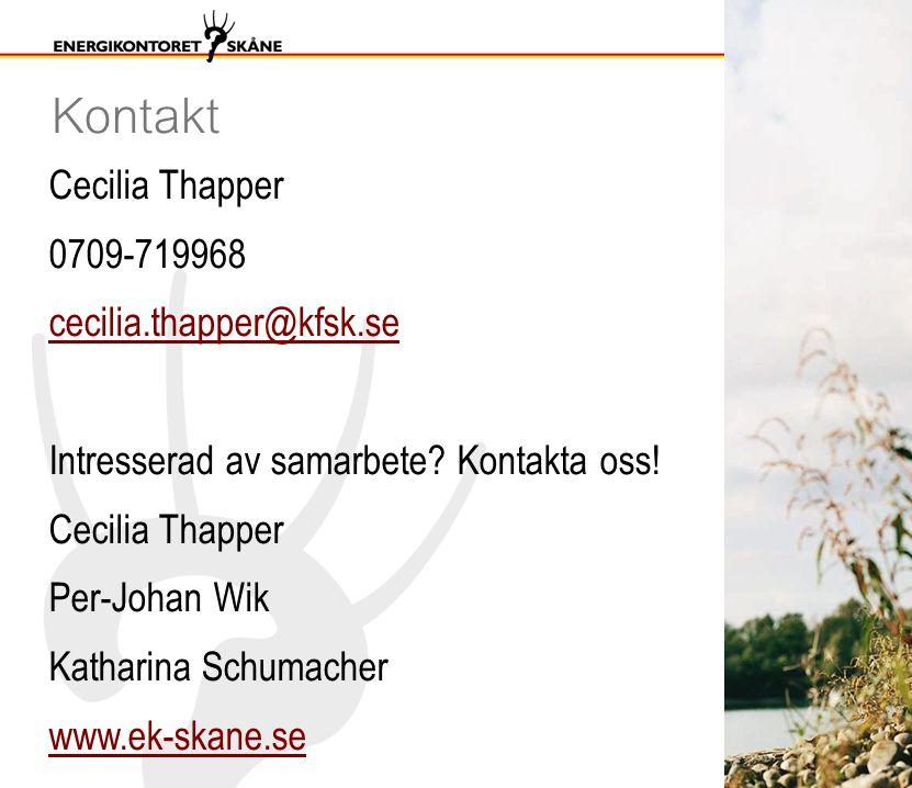Kontakt Cecilia Thapper 0709-719968 cecilia.thapper@kfsk.se Intresserad av samarbete.