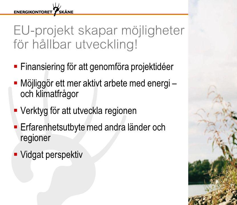 EU-projekt skapar möjligheter för hållbar utveckling.