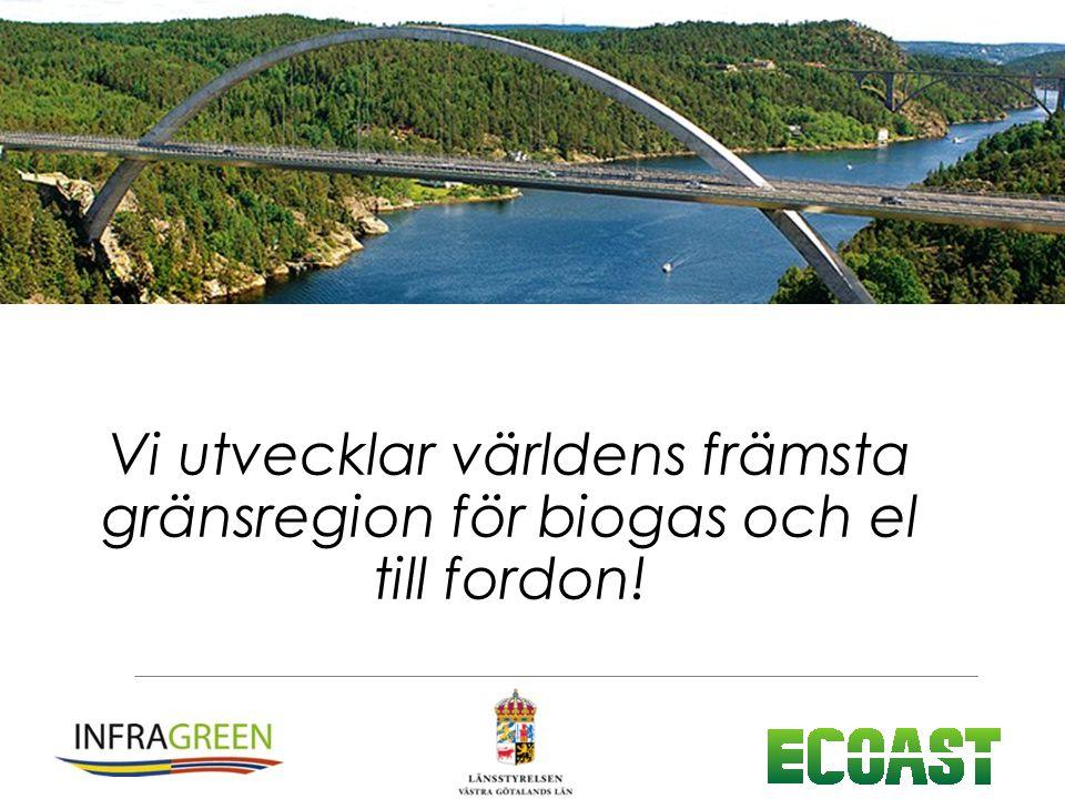 Vi utvecklar världens främsta gränsregion för biogas och el till fordon!