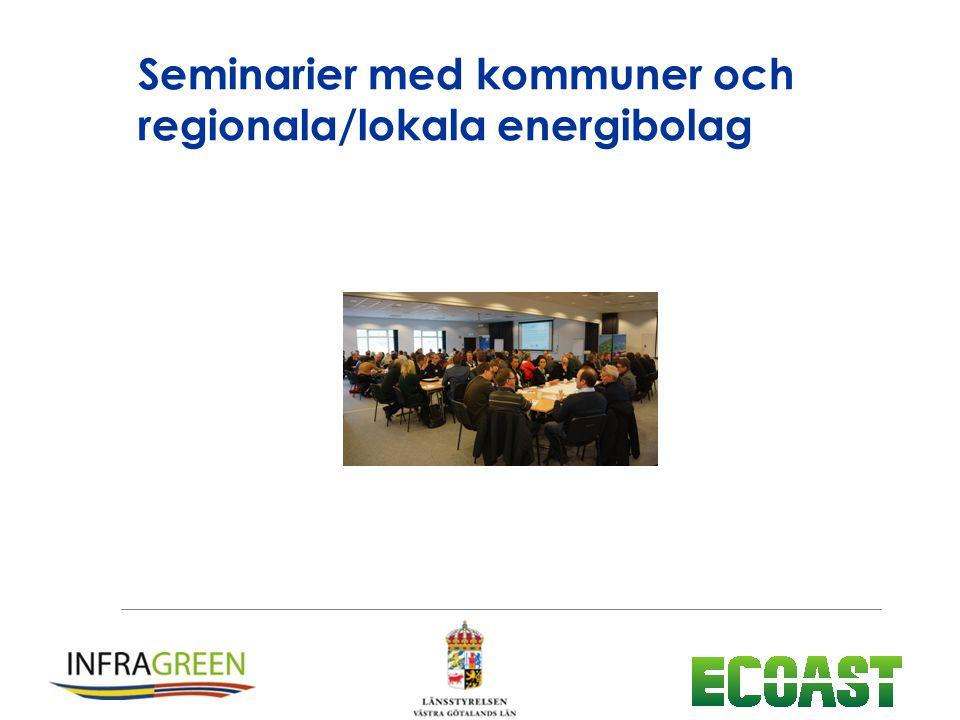 Seminarier med kommuner och regionala/lokala energibolag