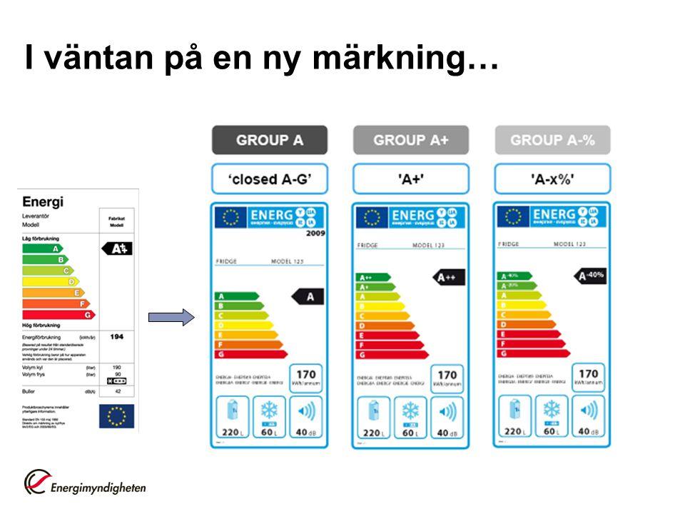 För energieffektiva produkter: Ekodesign + Märkning Ekodesign sätter minimikrav på energiprestanda –Kravnivån garanterar lönsamhet Märkning ger konsumenten möjlighet att välja en bättre produkt
