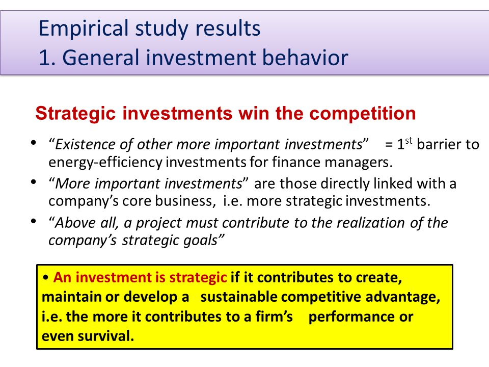A triple approach is needed to positively influence firms' energy-efficiency investments decision-making: 1.