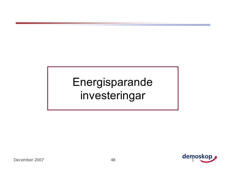 December 2007481 Energisparande investeringar