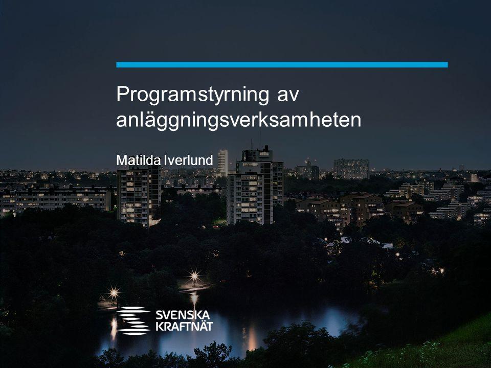 Programstyrning av anläggningsverksamheten Matilda Iverlund