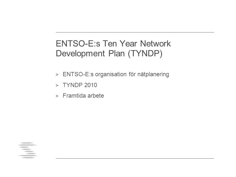 ENTSO-E:s Ten Year Network Development Plan (TYNDP) > ENTSO-E:s organisation för nätplanering > TYNDP 2010 > Framtida arbete