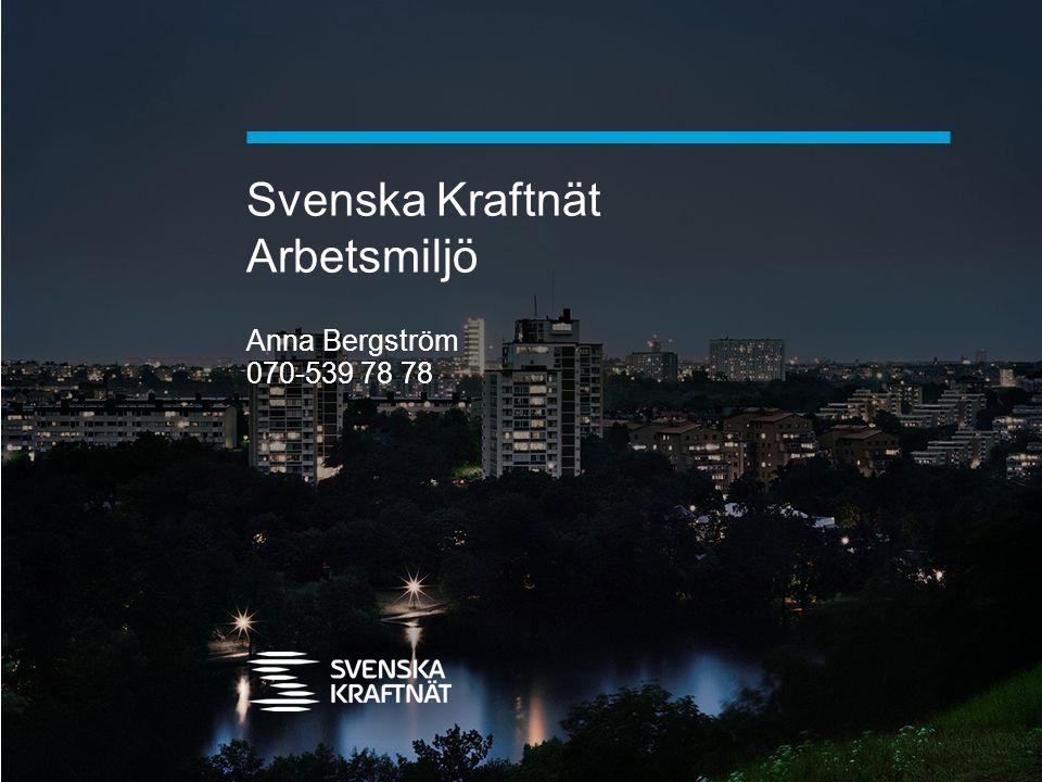 Svenska Kraftnät Arbetsmiljö Anna Bergström 070-539 78 78