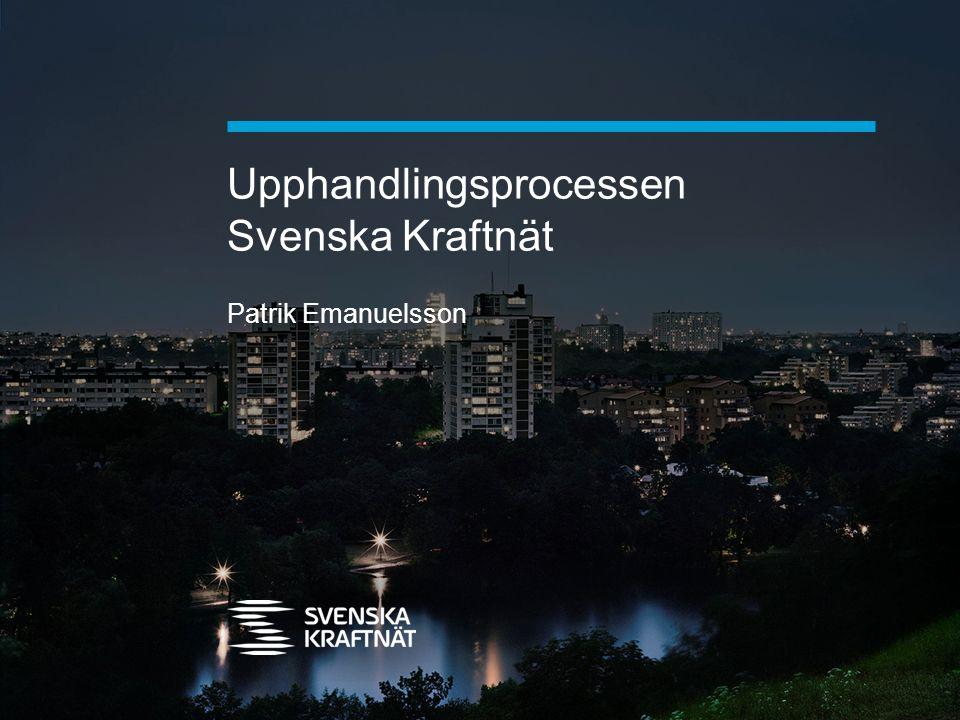 Upphandlingsprocessen Svenska Kraftnät Patrik Emanuelsson