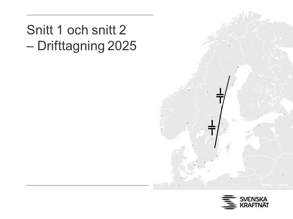 Snitt 1 och snitt 2 – Drifttagning 2025