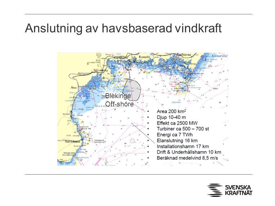 Anslutning av havsbaserad vindkraft Blekinge Off-shore
