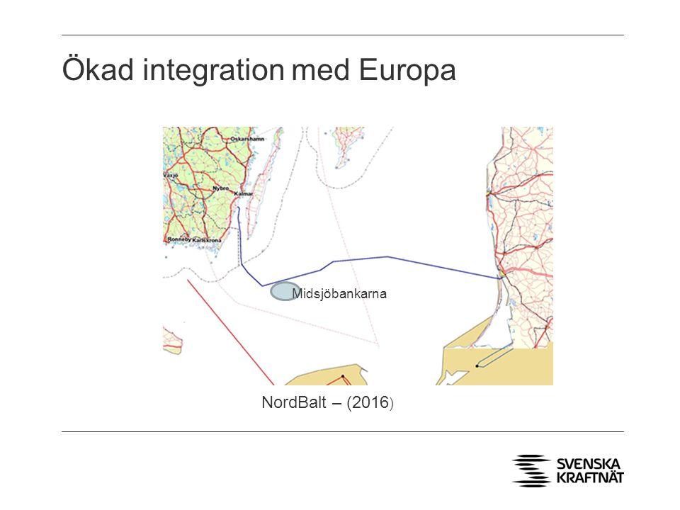 Ökad integration med Europa Midsjöbankarna NordBalt – (2016 )