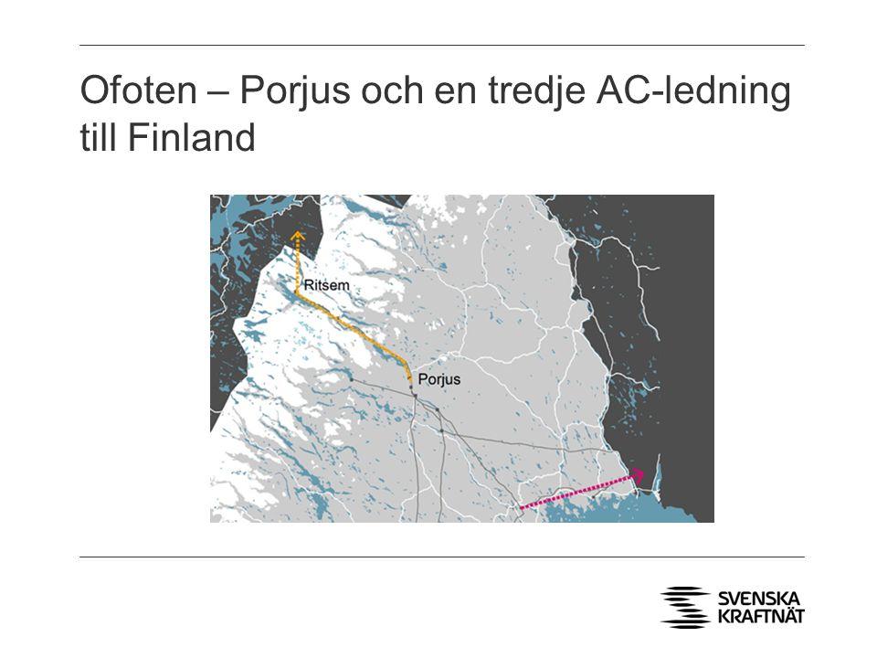 Ofoten – Porjus och en tredje AC-ledning till Finland Ort 1 Ort 2